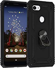 Co-Goldguard Google Pixel 3A XL Case with Kickstand Military Grade Drop Tested Armor Case with Ring Holder Works Magnetic Car Mount Impact Protection Bumper Cover for Google Pixel 3a XL Black