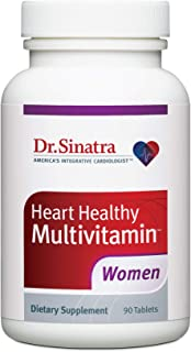 Dr. Sinatra's Heart Healthy Multivitamin for Women with Vitamin D 1000 IU, A, B12, C, E, Biotin, Folate, and Zinc, 90 Tabl...