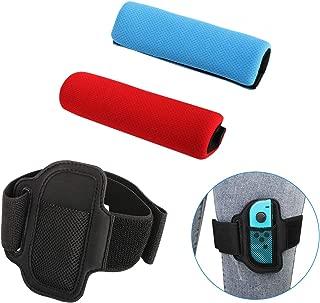 「3本セット」 Switch リングフィット アドベンチャー 対応 リングコングリップ レッグバンド 交換用セット サイズ調整可能 無臭 肌に優しい素材 RingFit Adventure 専用 ハンドル バンドセット スイッチパーツ 「Joy-Con レッグバンド+左右グリップ」 黒色+青色+赤色