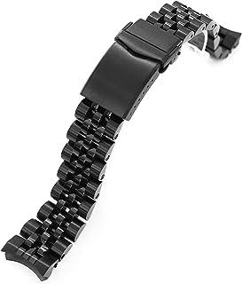 Angus-J Louis Jub - Bracciale in metallo per Seiko Sumo SBDC001 Diamond-Like Carbon DLC Black