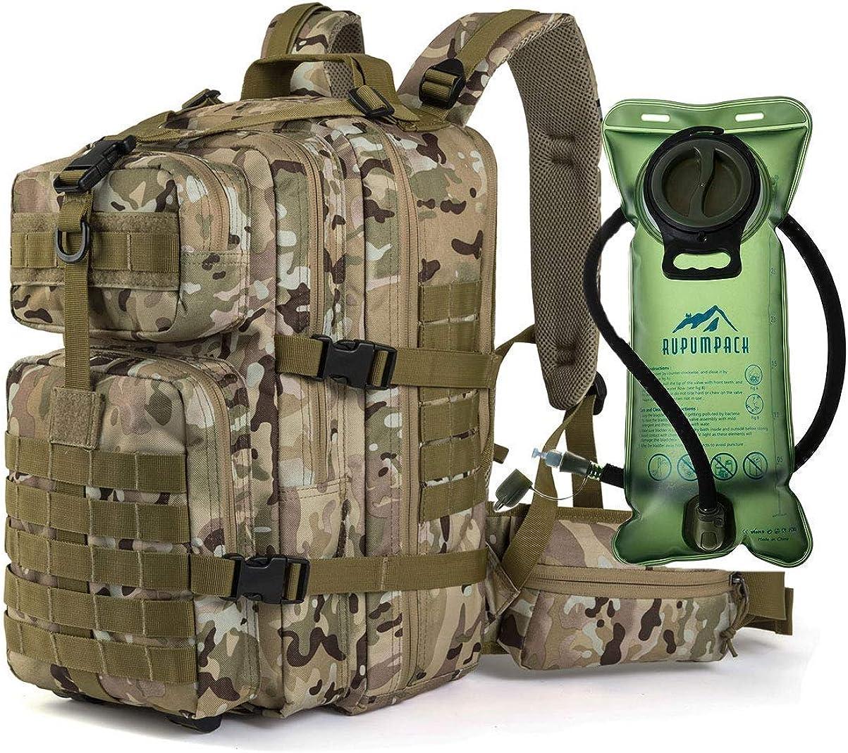 Under blast sales RUPUMPACK Military Tactical Genuine Backpack Hydration MO Army