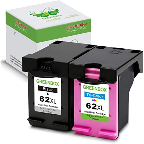 #62XL Color Ink for HP ENVY 5660 7640 7645 C2P05AN Black C2P07AN 2PK #62XL