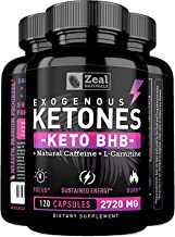 Keto BHB Exogenous Ketones Pills (2720mg | 120 Capsules) Keto Pills w. goBHB Salts, Natural Caffeine & L-Carnitine - Keto BHB Oil Capsules Beta Hydroxybutyrate for Weight Loss Keto Vitamins Keto Salts