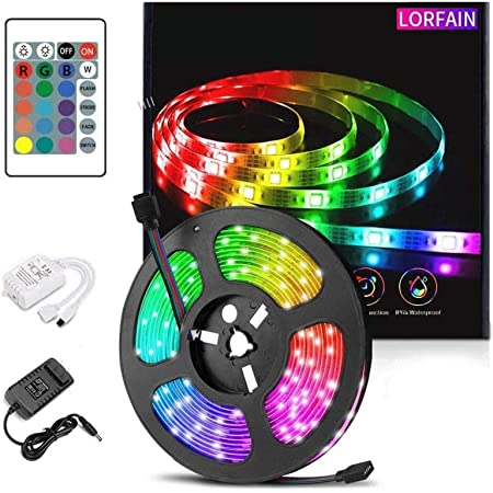 46 Ft LED Trampoline Lights 16 Colors Change Remote Control Trampoline Rim Waterproof LED Lights USB Powered with Remote Control Christmas Decoration for Play at Night Outdoor Party