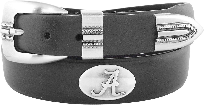 NCAA Alabama Crimson Tide Tip Leather Concho Belt