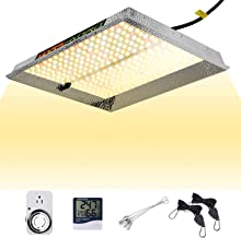 MARS HYDRO TS 1000W Led Grow Light Sunlike Full Spectrum Grow Bulb for Indoor Plant with Updated LEDs IR Commercial Hydroponic Grow Lamps 3x3ft 4ft LED Grow with Dimmer Thermometer Hygrometer Timer