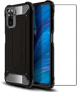Ramcase Funda Redmi Note 10 / Redmi Note 10S + Protector de Pantalla de Cristal Templado ,Case Doble Capa Textura de Fibra...
