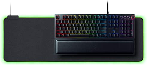 Razer Huntsman Elite Gaming Keyboard + Goliathus Extended Chroma Mousepad Bundle: Matte Black