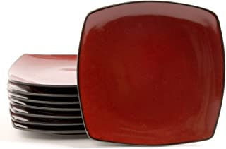 solid red dinner plates