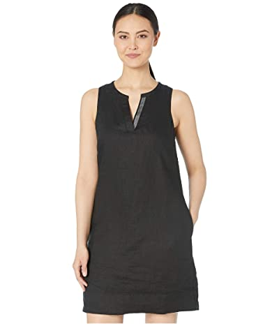 Tommy Bahama Seaglass Linen Shift Dress (Black) Women