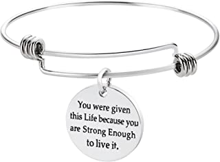 Inspirational Friendship Bracelets- You were Given This Life Because You are Strong Enough to Live it
