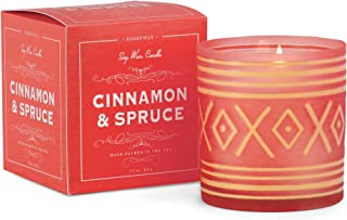 Paddywax Candles Glee Collection Holiday Scented Candle, 8 oz, Cinnamon/Spruce