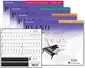 Piano Adventures Primer Level Learning Set By Nancy Faber - Lesson, Theory, Performance, Technique & Artistry Books & Juliet Music Piano Keys 88/61/54/49 Full Set Removable Sticker