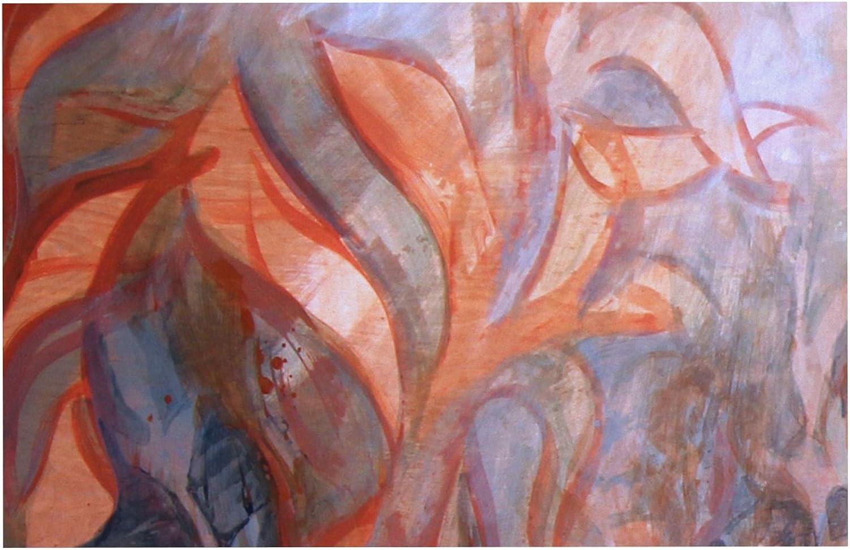 KESS InHouse Theresa Giolzetti Seaweed  orange bluee Dog Place Mat, 13  x 18