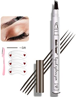 Eyebrow Tattoo Pen,Microblading Eyebrow Pencil Waterproof Microblade Brow Pen Make Up with a Micro-Fork Tip Applicator Cre...