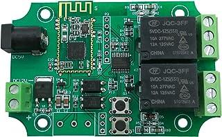 DSD TECH Módulo de relé Bluetooth de 2 Canales para Interruptor de Control Remoto Compatible con iPhone y Android 4.3