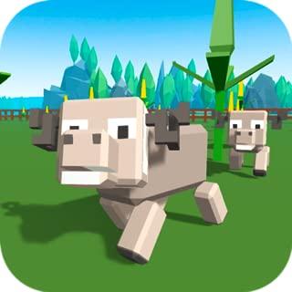 Block Farm: Sheep Simulator | Pixel Farm Cube Craft Animal Simulator Sheep Town Cute Pets World Match Animal Survival Simulator