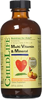 Child Life Multi Vitamin and Mineral, 8-Ounce Pack of 2
