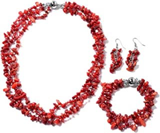 Best red coral necklace Reviews