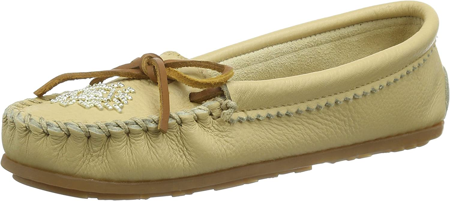 Minnetonka Women's Deerskin Beaded Moccasin Carmel mukluks-and-moccasins 9 M