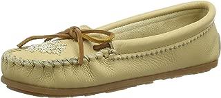 Women's Deerskin Beaded Moccasin Loafers Shoes