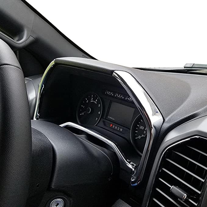 HIGH FLYING Interior Dashboard Navigation GPS Cover Decorative Trim ABS Matte 1 Piece for Ford F-150 F150 2015 2016 2017