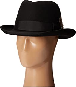 Homburg Wool Felt Hat w/ Grosgrain Band