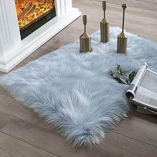 Best light blue fluffy rug Reviews