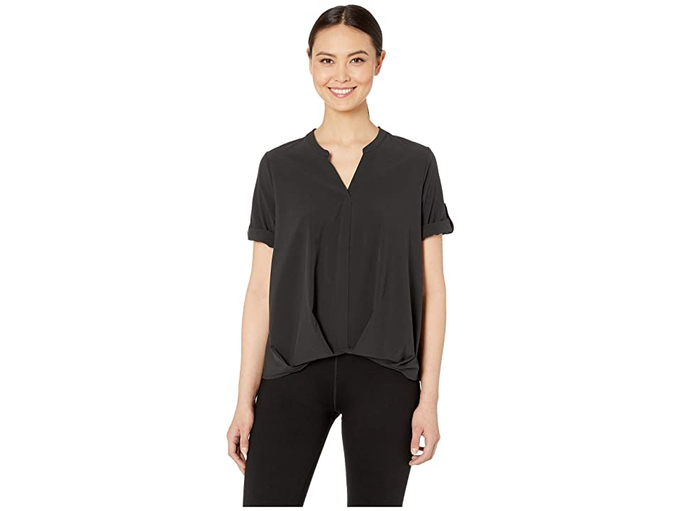 Royal Robbins Spotless Traveler Short Sleeve Top (Jet Black) Women