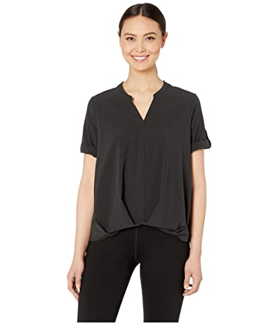 Royal Robbins Spotless Traveler Short Sleeve Top (Jet Black) Women