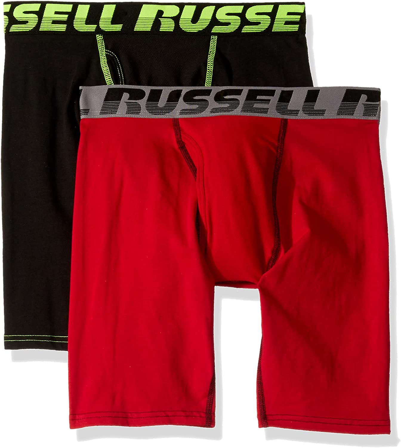 Russell Athletic Men's FreshForce Odor Protection Performance Boxer Briefs ,Assorted (2 Pack)