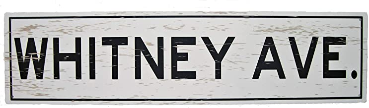 CHOICE 1 of 2 VINTAGE USED STREET SIGN W MAIN w// WHITE LETTERS  6x18  or  6x24