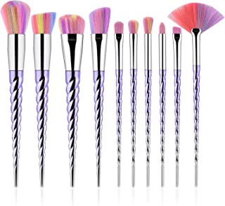 10Pcs Unicorn Makeup Brush Set,TTRWIN Professional Foundation Powder Eyeshadow Blending Concealer Cosmetics Unicorn...