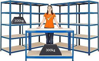 Mega Deal | 1x établi et 4 x rayonnages pour charges lourdes | profondeur 60 cm -