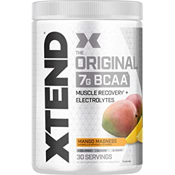 XTEND Original BCAA Powder Mango Madness | Sugar Free Post Workout Muscle Recovery Drink with Amino Acids | 7g BCAAs for Men & Women | 30 Servings