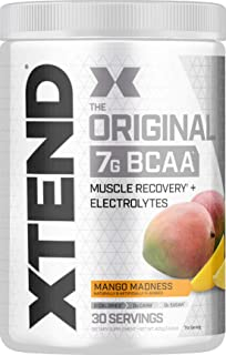 XTEND Original BCAA Powder Mango Madness - Sugar Free Post Workout Muscle Recovery Drink with Amino Acids - 7g BCAAs for M...