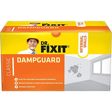 Dr.Fixit Dampguard Classic Damp-Proof Coating For Internal Walls and RCC Water Tanks, 500 Gm