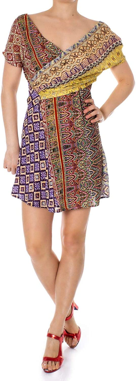 Desigual Women's 19SWVWATMULTI Multicolor Viscose Dress