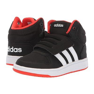 adidas Kids Hoops Mid 2.0 (Infant/Toddler) (Black/White/Hi-Res Red) Kid