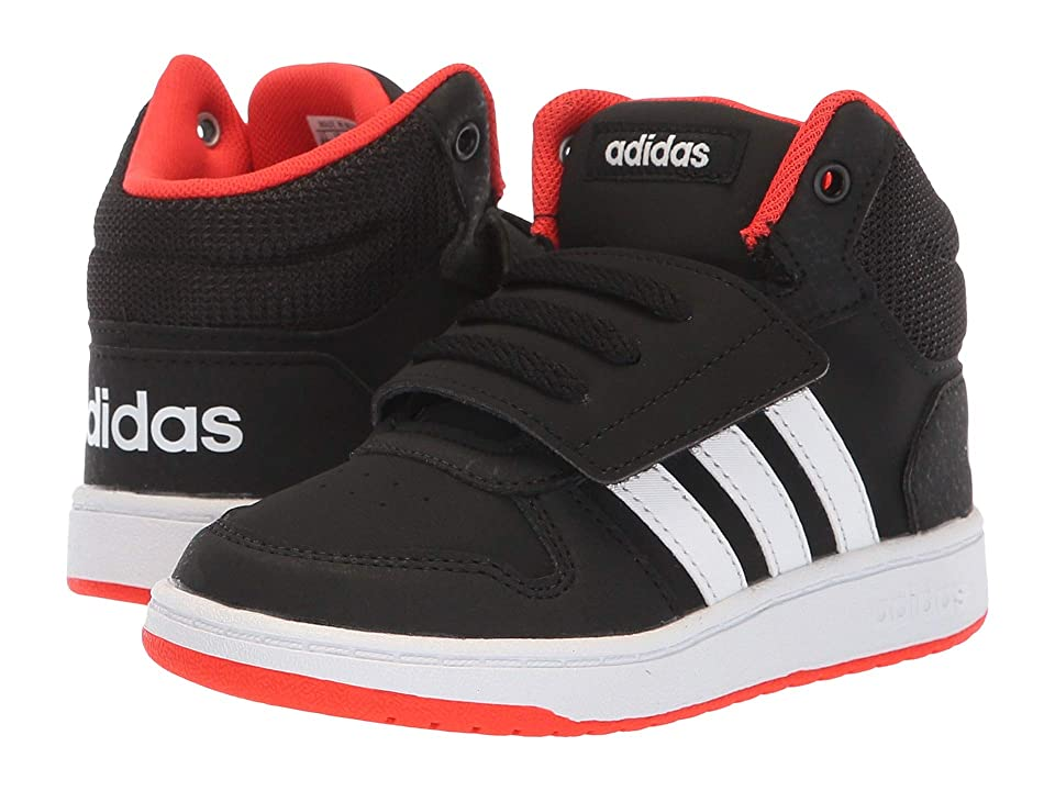 adidas Kids Hoops Mid 2.0 (Infant/Toddler) (Black/White/Hi-Res Red) Kid