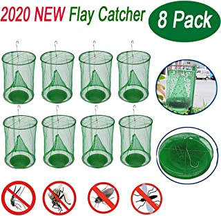 Longma New Upgrade Ranch Fly Trap | Flay Catcher | Most Effective Trap Ever Made with Fishing Apparatus | Food Bait Flay Catcher for Outdoor, Indoor Family Farms, Park
