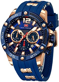Men's Sports Watch (Multifunction,Waterproof,Luminous,Calendar) Silicon Strap Wrist Watch Fashion for Men …