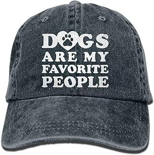 Unisex Baseball Cap Yarn-Dyed Denim Hat Dogs are My Favorite People Adjustable Snapback Cricket Cap