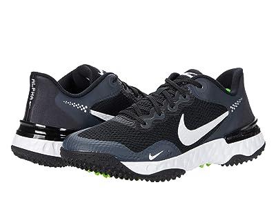 Nike Alpha Huarache Elite 3 Turf (Black/White/Dark Smoke Grey/Electric Green) Women