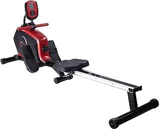 Ultrasport Máquina practicar el remo y un entrenamiento de cuerpo entero, aparato de fitness para casa, 8 niveles de resistencia, Unisex, Negro (Drafter 600 Negro/Plata), OS