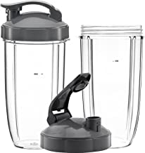 QueenTrade 32OZ Tall Cups & Flip Lids Ring Replacement Set for Nutribullet 600w & 900w Blender Mixer Replacement Accessories Parts