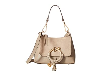 See by Chloe Joan Mini Hobo Leather Suede (Motty Grey) Handbags