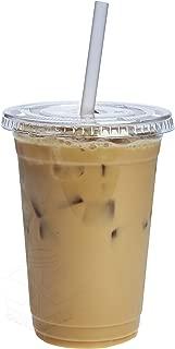 [100 Sets - 20 oz.] Plastic Cups With Flat Lids