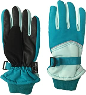 Girls Teal Blue Thinsulate Waterproof Ski & Snowboarding Winter Gloves