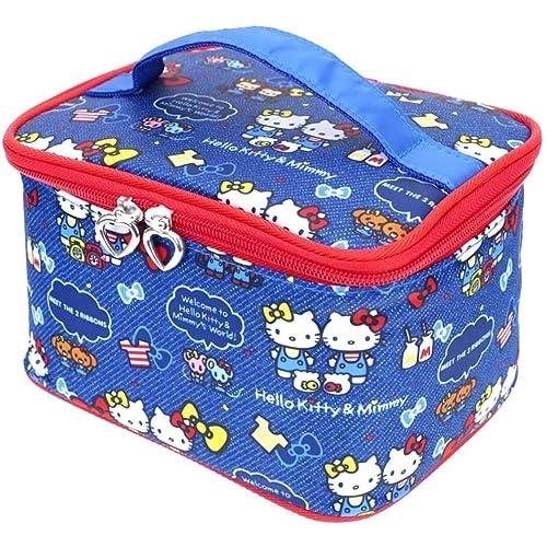 Hello Kitty Makeup Train Case Cosmetic Bag Holder Travel Organizer  Water-resistant Portable db5b5f5b8f3c6